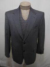 Loro Piana Italy Daniel Wool Coat 40R 40 Jacket Suit Made USA Men Gray Pinstripe