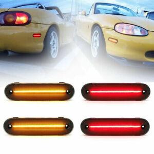 4Pcs LED Side Marker Fender Blinker Turn Signal Light For Mazda Miata MX-5 90-05