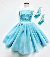 Eledoll Dress Light Blue Fairy Shoes Fashion Set Fits Barbie Elsa Princess Doll