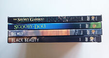 Lot of *4* Live Action DVDs: BLACK BEAUTY, FREE WILLY, SCOOBY-DOO, SECRET GARDEN