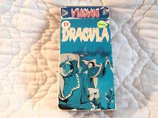 DRACULA VHS VESTRON VIDEO HORROR 80'S ANIME JAPANESE TOEI MARVEL COMICS TOMB OF