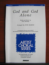 God and God Alone - 1988 sheet music gospel - SATB vocal, piano, guitar chords