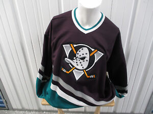 VINTAGE CCM NHL ANAHEIM MIGHTY DUCKS XL HOCKEY JERSEY ORIGINAL LOGO 1993-2006