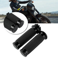 Black Handle Bar Hand grips Fit For Harley Touring Sportster XL883 XL1200 25mm