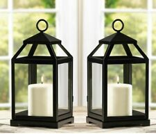 "5 bulk small 12"" Malta rustic Black Candle Lantern holder wedding centerpiece"