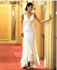 NWT Long Hi-low White informal beach Wedding Size 6