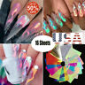 16Pcs Holographic Fire Flame Hollow Stickers Fires Stickers Manicure Nail Art US