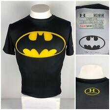 UNDER ARMOUR Mens Medium Alter Ego Compression Shirt Batman Black Short Sleeve