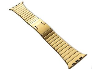 24K Gold Plated 42MM 44MM Satin Link Band For Apple Watch Custom BAND ONLY