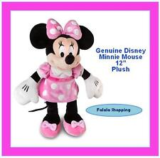 "FALALA DISNEY MINNIE MOUSE POLKA DOTTED PINK DRESS 12"" PLUSH – MICKEY CLUBHOUSE"