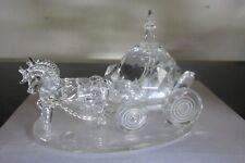 GODINGER SHANNON CRYSTAL COACH HORSE DRAWN CARRIAGE FIGURE WEDDING CAKE TOPPER