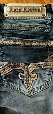 LADIES BUCKLE EXCLUSIVE ROCK REVIVAL ALEAH BOOT STRETCH JEANS SIZE 26 INSEAM 34