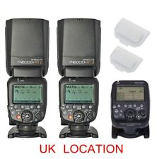 Yongnuo YN-E3-RT Transmitter + 2PCS YN600EX-RT II M TTL Speedlite For Canon UK