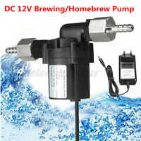 DC12V 18W Transfer Pump + Adapter For Brewing Craft Homebrew Beer Wort Mash