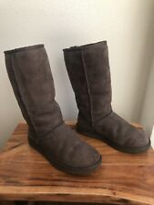 UGGS AUSTRALIA CLASSIC TALL WOMEN'S WINTER BOOTS SIZE 7 W BROWN