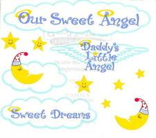~ Our Sweet Angel Daddy's Little Angel Moon Stars Frances Meyer Sticker Sheet ~