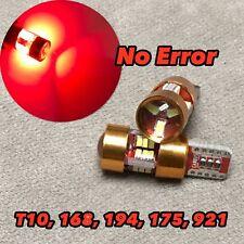 Canbus T10 27 LED Red Bulb Parking Light W5W 168 194 2825 W1 For Kia BMW JAE