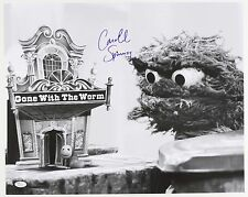 "1970s Caroll Spinney ""Gone With the Worm� Le Signed 16x20 B&W Photo (Jsa)"