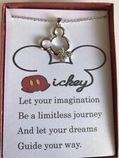 Mickey Mouse Inspired Austrian Rhinestone Necklace w/ poem