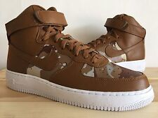 NIKE AIR FORCE 1 HIGH ID CAMO SIZE 10.5 Tan One 808785-982 White Uptowns