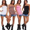 Top maglia fascia donna tubo bustino bustier corpetto elastico basic 99935