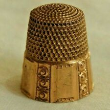 Antique 10K Yellow Gold Sewing Thimble
