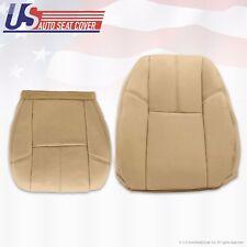 2010 2011 2012 Chevy Silverado Passenger Bottom-Lean Back Leather Seat Cover Tan