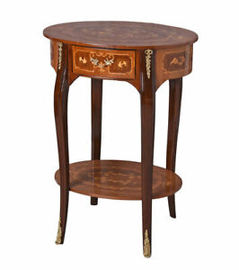 Table Console Baroque Telephone Side Table Wood Inlay Console Wall
