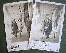 1925´s Ladies w/Down Town Cloche Flapper Hats Men w/Skimmer Hat & Suits 4 Photo