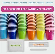 450 PZ KIT ACCESSORI CAFFE COLORATI  COMPLETI SIMILE AL KIT BORBONE 3 X 150