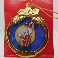 1997 BUGS BUNNY Looney Tunes Pewter Snowflake Stamp CHRISTMAS ORNAMENT NIB NEW