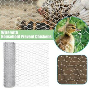 DIY Hexagonal Wire Mesh Net Plants Farm Household Chicken Wire Fencing with PET