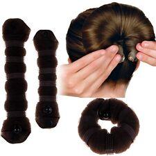 2PCS Hair Styling Sponge Magic Donut Bun Maker Former Ring Shaper Styler Tool