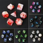 Acrylic Polyhedral D4-D20 Dice For TRPG Board Game Dungeons And Dragons 7pcs/Set