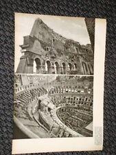 Rare vedute di Roma nel 1938 Il Colosseo e Colonna del Tempio di Romolo