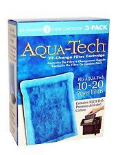 x3 AQUA-TECH 10-20 EZ-Change FILTER CARTRIDGE Aquarium Water Carbon NiB HQ NEW