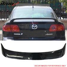Fits 04-09 Mazda 3 Sedan OE Factory Style Trunk Spoiler Painted #16W Black Mica