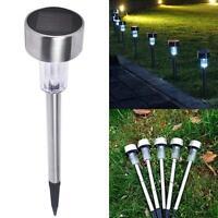Solar Powered LED Stainless Steel Landscape Lawn Garden Fence Lights Outdoor KJ