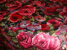 round deep red rose tablecloth 100%chintz cotton genuine Rose&Hubble fabric