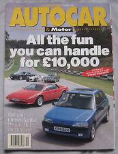 AUTOCAR magazine 19/5/1993 featuring Maserati Ghibli, Mercedes, Citroen