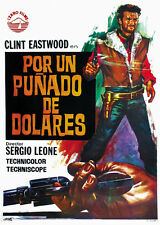 A fistfull of dollars 1964 Clint Eastwood cult western Movie poster print 11
