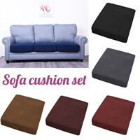 1 Seater Stretchy Sofa Seat Cushion Cover Couch Slipcovers Protector Washable