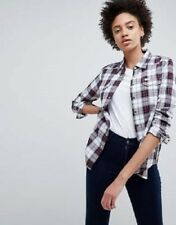BNWT LEE Regular Western Check Shirt In Red Check Size XS UK 8 NEW WOMENS