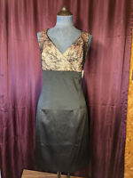 NEW Allen B. Black Party Dress Lace Floral Top Womens 16 NWT Closet72*