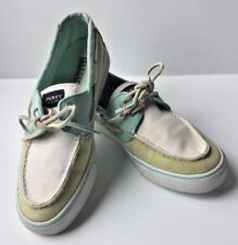SPERRY Top-Sider Slides Flats Ladies Boat Shoes Size 8.5 Women's Canvas Blue I