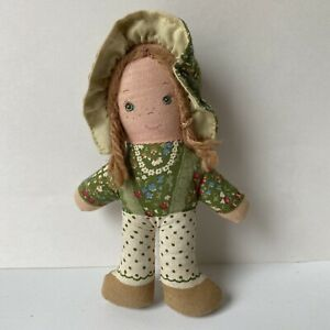 "Vintage 5"" Amy Fabric Doll Holly Hobbie Friend"