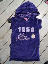 Robe violette velours imprimée princesses Rayponce, Aurore DISNEY Taille 4 ans