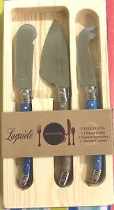 FRENCH HOME Laguiole Cheese Knife & Spreader Set of 3-Stainless Steel-Multicolor