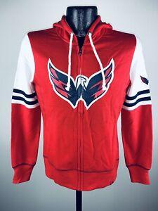 Women's Majestic Washington Capitals Turnbuckle Full Zip Red Hoodie Sweatshirt S