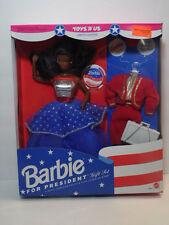 1991 TOYS R US NEW IN ORIGINAL BOX RARE BLACK BARBIE FOR PRESIDENT DOLL 3940 NIB